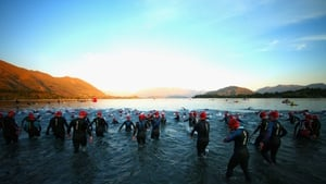 Competitors enter the water for the Challenge Wanaka in New Zealand
