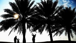Kiradech Aphibarnrat in action during the Abu Dhabi HSBC Golf Championship at Abu Dhabi Golf Club in United Arab Emirates