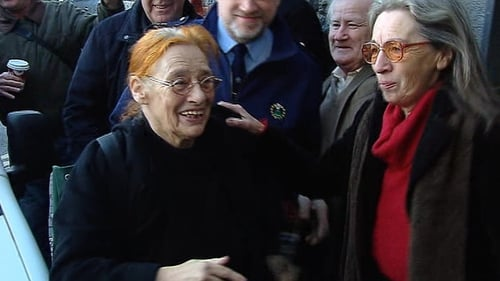 Margaretta D'Arcy and Maura Harrington pictured at Ennis District Court