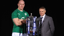 Joe Schmidt and Paul O'Connell meet the press to announce Ireland's team to face Scotland