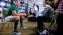 Ireland captain Paul O'Connell chats to RTÉ's Damien O'Meara ahead of the RBS 6 Nations