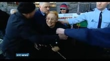 Supporters disrupt court appearance of Margaretta D'Arcy
