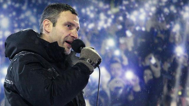 Opposition leader Vitali Klitschko demanded concessions from President Viktor Yanukovych