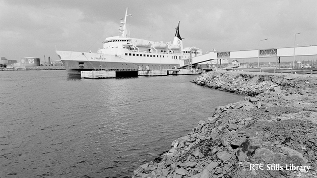 The 'Munster' ferry in Dublin Port (1969)