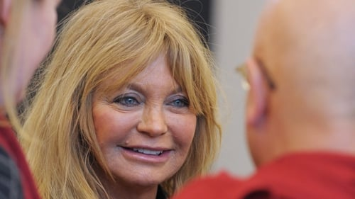 Goldie Hawn gave meditation talk in Davos today