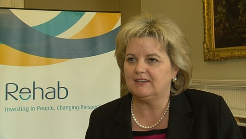 A special board meeting of Rehab discussed Angela Kerins' salary