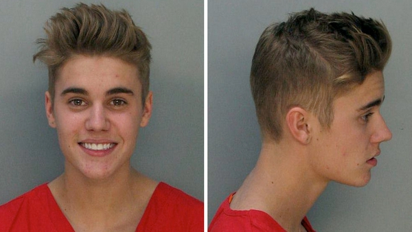 Police in Miami released Justin Bieber's 'mugshot' after his arrest