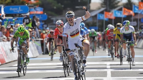 Andre Greipel sprints to victory in the fourth stage of the Tour Down Under