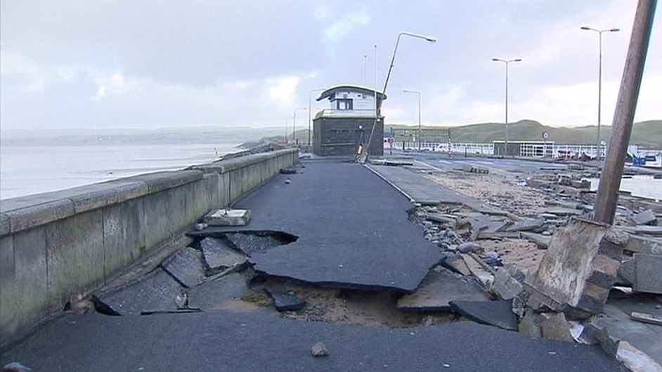 There were dramatic scenes around the country after the recent storms