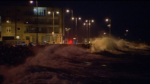 Massive waves battered coastal towns in many parts of the country