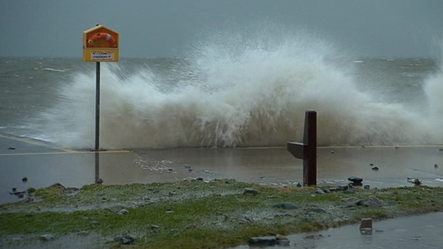 Storms batter Salthill