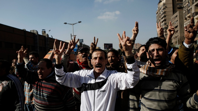 Egyptians chant pro-military slogans at scene of explosion near metro station