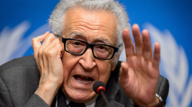 Lakhdar Brahimi said both sides remain at odds on the 'core matters' of the conflict