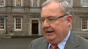 Pat Rabbitte rejected suggestions there were differences of opinion around the Cabinet table