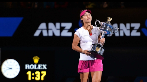Li Na, who will be 32 next month, became the oldest woman to win the Australian Open in the Open era