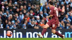 Watford's Fernando Forestieri shoots to open the scoring