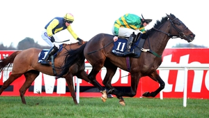 Enda Bolger's Gilgamboa (R) looks the horse to beat in Flyingbolt Novice Chase