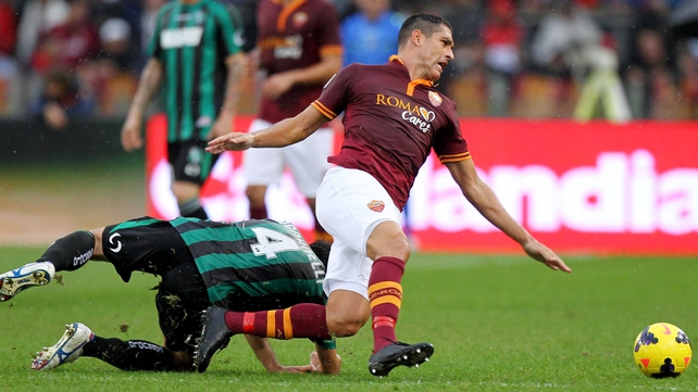 Marco Borriello of Roma, who has moved to West Ham on loan