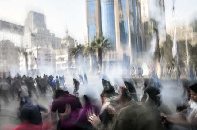 Security forces fired teargas and some fired automatic weapons in the air