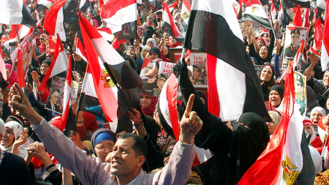 Thousand of Egyptians gathered in Tahrir to pledge their support for Sisi in an event stage-managed by the state