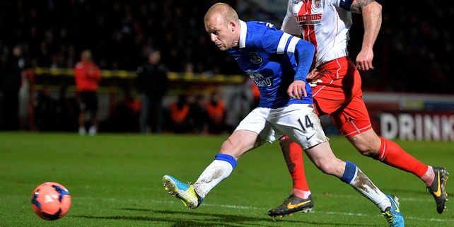 Steven Naismith scored twice in Everton FA Cup clash with Stevenage