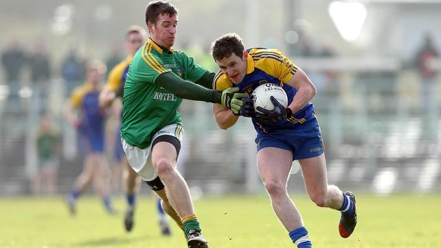 Leitrim's Barry Prior and Ciarain Murtagh of Roscommon