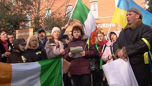 Ukrainians in Ireland say that they believe the protests in Kiev will continue