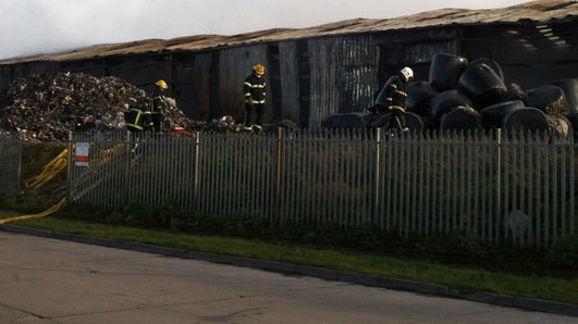 Fire at Oxigen waste recycling plant