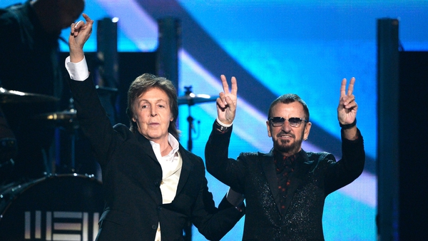 Paul McCartney and Ringo Starr  at the 56th Grammy Awards