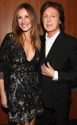 Julia Roberts and Paul McCartney