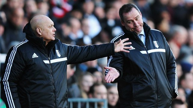 Fulham assistant head coach Ray Wilkins and manager René Meulensteen