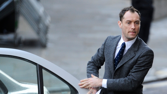 Jude Law is the most high-profile celebrity so far to give evidence at the trial (Pic: EPA)