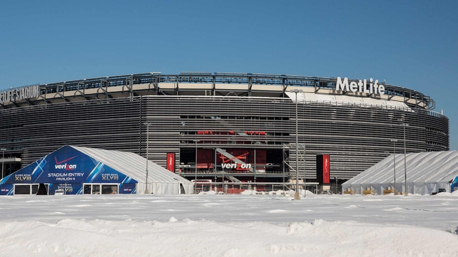 MetLife Stadium is preparing for the Super Bowl