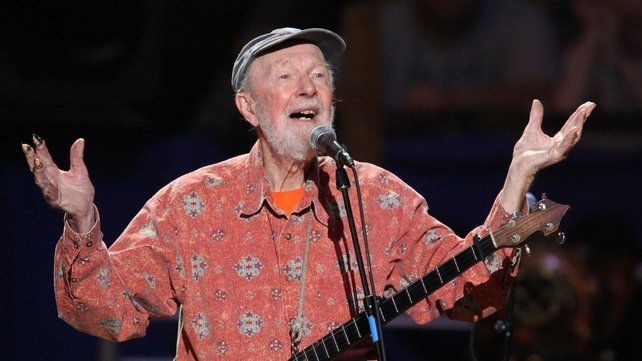 Pete Seeger performs in the Clearwater Benefit Concert at Madison Square Garden in 2009