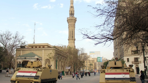 Security is tight in Cairo as Mr Mursi's trial gets under way