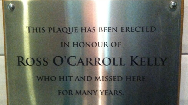 The may be the only chance for many to read the plaque!