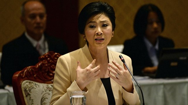 Yingluck Shinawatra confirmed the election will go ahead on 2 February