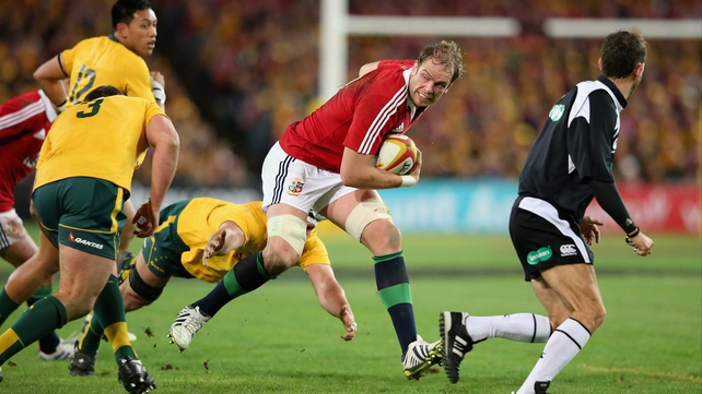 Alun-Wyn Jones in action against Australia last July