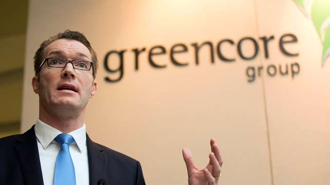 Greencore CEO Patrick Coveney speaking at the company's AGM in Dublin today