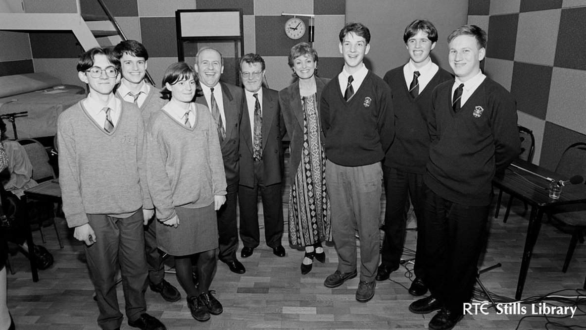 Irish Schools Quiz (1994). Can you identify any of these contestants?