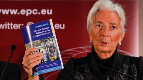 Christine Lagarde at the launch of the book