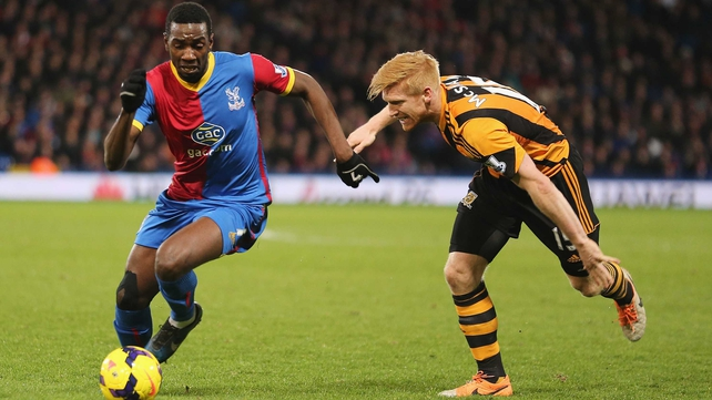 Crystal Palace improved their survival hopes with a 1-0 victory over Hull City