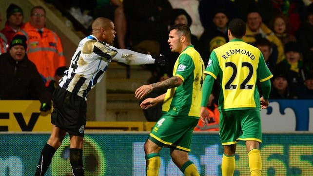 Loic Remy and Bradley Johnson both received their marching orders at Carrow Road