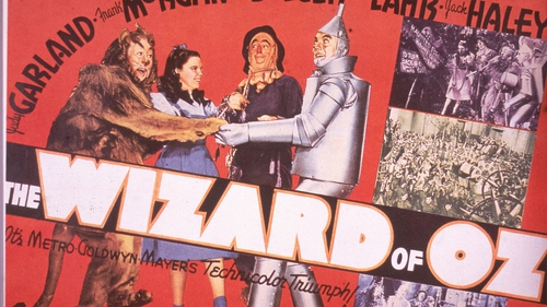 A lobby card from the film The Wizard Of Oz