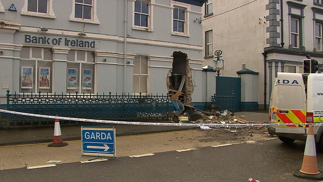 A digger was used to pull the ATM from the Bank of Ireland