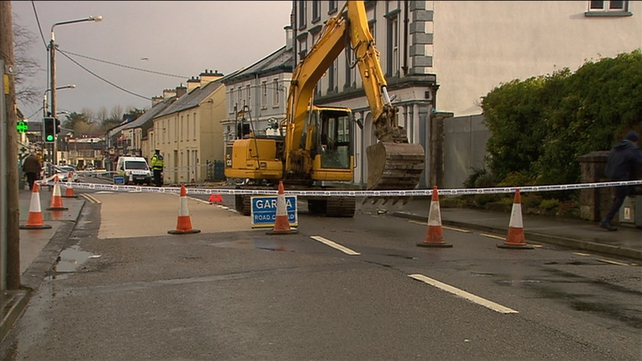 The scene at Teeling Street has been sealed off