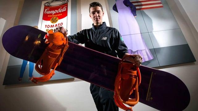 Snowboarder Seamus O'Connor is a two-time European Junior halfpipe champion