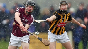 Aidan Fogarty of Kilkenny battles with Galway's Cathal Mannion