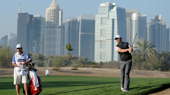 Rory McIlroy in the Omega Dubai Desert Classic