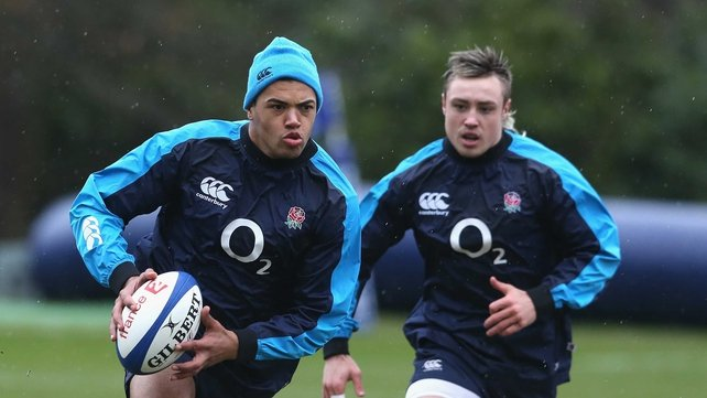 Luther Burrell (left) trains alongside Jack Nowell (right)